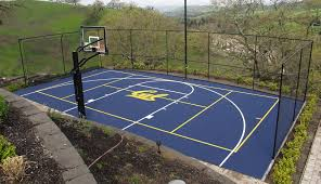 Backyard Basketball Court Home Basketball Court Design Doubtful Backyard Courts In 10