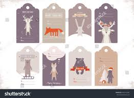 collection 8 craft christmas gift tags stock vector 345712268