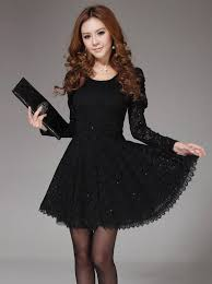 new fashion back bowknot sleeve dress
