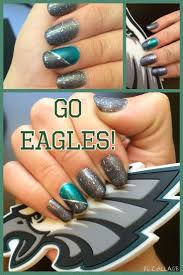 cool philadelphia eagles nail design eagles nail art football