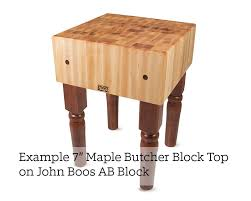 John Boos Kitchen Island by John Boos Maple End Grain Butcher Block Island Top 2 25