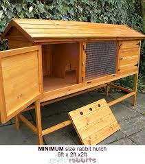 Rabbit Hutch For 4 Rabbits Rabbit House Living U0026 Sleeping