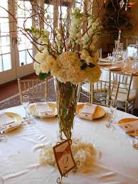 curly willow centerpieces centerpiece white hydrangea curly willow with hanging centerpiece