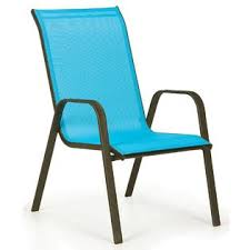 Patio Stack Chairs Essential Garden Bartlett Solid Blue Stack Chair Outdoor Living