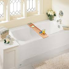 adjustable bathtub caddy bamboo adjustable bathtub caddy at brookstone buy now