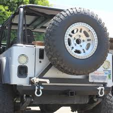 jeep bumpers 87 06 jeep wrangler yj tj rock crawler rear bumper tire carrier