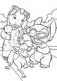 21 lilo stitch coloring pages images