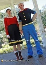olive oyl costume coolest popeye and olive oyl costume