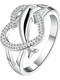 925 sterling silver v shaped heart promise ring size 5 6 7 8 9 10 womens promise rings