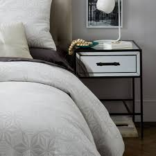 mirror bedside table uk glows your bedroom with mirrored bedside