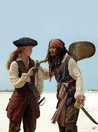 at one point in the pirates of the caribbean films elizabeth