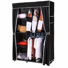 homdox non woven folding wardrobe shelves hanging bar shoes