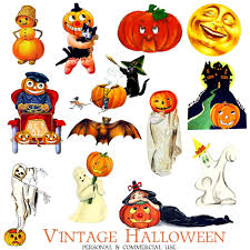antique halloween flying witch background vintage halloween clipart