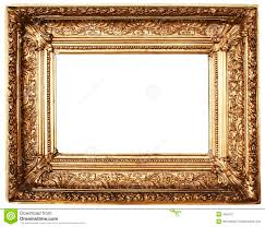 photo frame ornamented picture frame gold path included stock photo image