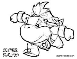bowser jr coloring pages bowser jr coloring free printable