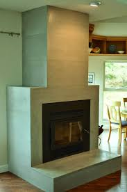 contemporary tiled concrete fireplace large format ultra thin wall tiles made in canada