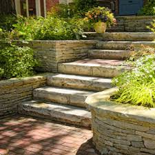 Retaining Wall Stairs Design Stairs And Steps Landscaping And Landscape Design For Patio
