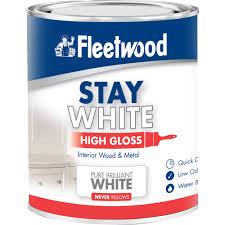 fleetwood high gloss pure white paint 750ml gloss topline ie