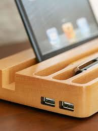 Electronic Charging Station Desk Organizer Wooden Charging Station With Two Usb Ports And Desk Organizer