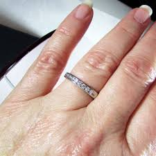 engagement rings size 8 14k white gold tessler weiss band wedding ring size 8 1 2 from