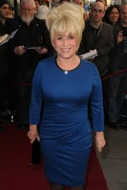 barbara windsor gets mobbed at just jim dale press night in london