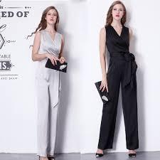 formal jumpsuits for free shipping 2017 fashion summer ol formal v neck jumpsuits