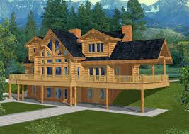 log home floor plans with garage log cabin lodge plans 1503