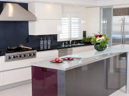 modern kitchen red white red glossy kitchen cabinet black solid countertop modern