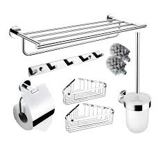 Silver Bathroom Accessories Sets Bathroom Accessories Set Wall Mount Chrome Brass Modern
