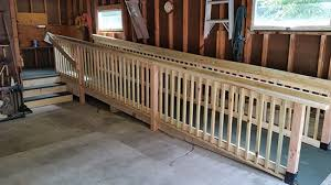 wheelchair ramps home or garage wooden wheelchair ramp