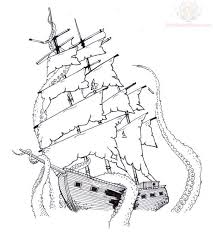 half sleeve tattoo designs outline outline pirate ship tattoo
