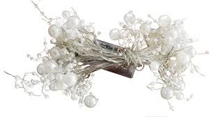 hzenya light pearl beaded garland 20 warm white