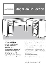 realspace magellan collection l shaped desk assembly instructions fillable online call for parts service 1 800 949 9974 repuestos es 1