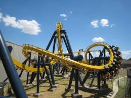 Six Flags In Boston Suspended Coaster Track Shapes Cars And Trains Archive