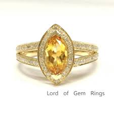 citrine engagement rings 799 marquise citrine engagement ring pave diamond wedding 14k