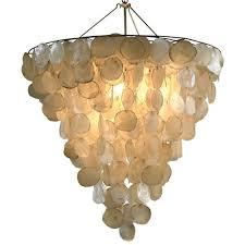 Capiz Shell Light Fixtures Capiz Shell Chandeliers Cozy Bliss