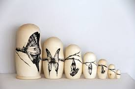 insect drawings on russian nesting dolls scene360