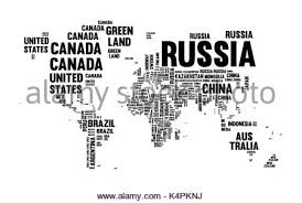 world map with country names typography world map made of every country name in black and white