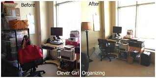 Desk And Shelving Units Before And After Home Office And Crafting Room