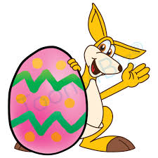 kangaroo mascot clip art and easter egg