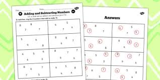 facts to 20 find pairs to 15 worksheet number facts