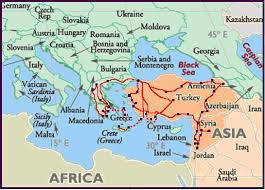 middle east map hungary y2001itinerary