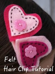 felt hair accessories how to make a felt hair clip feltmagnet