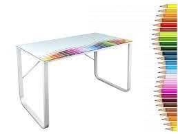 plateau de bureau en verre sérigraphié plateau bureau verre bureau d angle modulable lepolyglotte