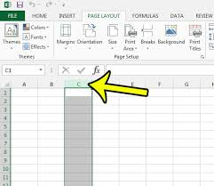 how to hide an entire row or column in excel 2013 live2tech