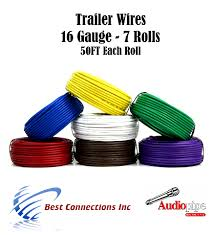 7 way trailer wire light cable for harness 50 ft each roll 16