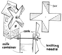 make toy windmills from milk containers craft idea for kids kids