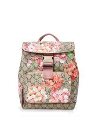 bloom backpack gucci gg blooms small backpack multi neiman