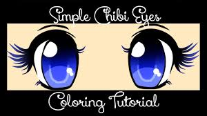 tutorial color simple chibi eyes youtube