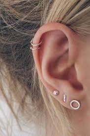 ear hoops tiny sterling silver cartilage hoops helix hoops ear